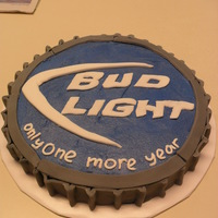 Bud Light Bottle Cap Cake