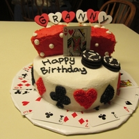Card/dice Birthday Cake