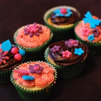Flowers And Butterflies Flowers and Butterfly cupcakes by Sugar and Swirl.