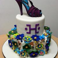 Exquisite Purple Shoe Custom Cake For Her Custom cake for her from Duet Bakery Boutique, Brooklyn, NY