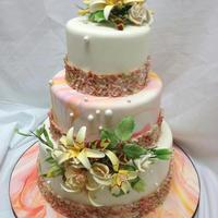 Beautiful Cake With Orange And Pink Hues Beautiful cake with orange and pink hues.