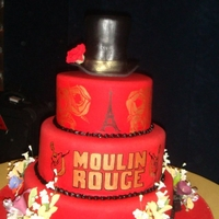 Moulin Rouge Custom Cake Moulin Rouge custom cake.
