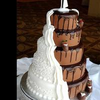 Unique Chocolate Wedding Cake Is Something Special For Everybody Unique chocolate wedding cake is something special for everybody!