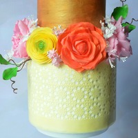Spring Cake A spring inspired cake with beautiful and bright wafer paper flowers.