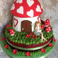 Fairy Toadstool Birthday Cake