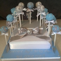 Cake Pops On A Custom Made Stand Red Velvet, Banana Pudding and Pink Lemonade Cake Pops on a Custom Made Styrofoam Stand