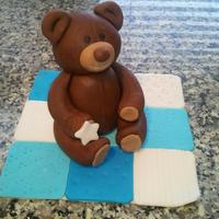 Fondant Teddy Bear On A Quilt *fondant teddy bear on a quilt