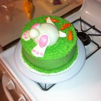 Wedding Cake Easter bunny butt cake