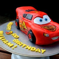 Lightning Mcqueen Cake for my youngest son's birthday. Lightning McQueen. Gosh this cake was hard! So many details, very difficult to do quickly. Used...