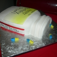 Pill Bottle Psychiatrist birthday cake