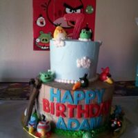 Whip Icing Angry Bird Themed Cake Whip icing Angry Bird themed cake