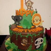 Jungle Themed Birthday Cake Jungle themed birthday cake