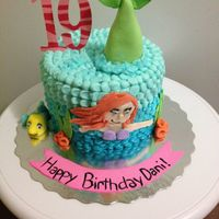 Buttercream Version Of The Little Mermaid Cake Inspiration Came From Another Cake On Here Buttercream version of the little mermaid cake, inspiration came from another cake on here. :)