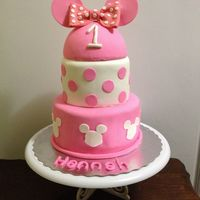 Pink Minnie Mouse Cake I had done a cake like this previously, inspired by many versions on here. This order was for that cake but all pink! I was sceptical at...