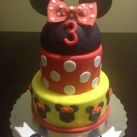 Minnie Mouse Cake! I've been hoping to get an order for a Minnie Mouse cake for a while! I had seen an adorable version a couple days before I got the...