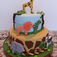 Safari Fondant Giraffe Lion Elephant Zebra Blue Baby Shower Safari, fondant giraffe, lion, elephant, zebra, blue baby shower