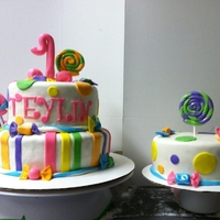 Candy Theme 1St Bday Cake