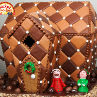 Chocolate Quilted Gingerbread Cookie House By Wicked Goodies