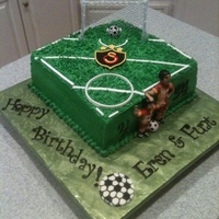 Soccer Cake For Dad Amp Sons Shared Birthday Soccer Cake for Dad & Son's shared Birthday.....