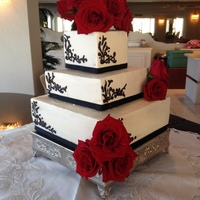 Black Amp White Wedding Cakeccbc Over Vanilla Bean Dark Chocolate Espresso Cake Amp Amaretto Cakereal Roses Helped Saved Time Black & White Wedding Cake....CCBC over Vanilla Bean, Dark Chocolate Espresso Cake & Amaretto Cake...Real roses helped saved time...