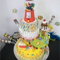 Candy Land Cake This work of art took about 3 days to create all the details. Can be made for a Sweet Sixteen, Quincenera, or a Childs Birthday.
