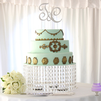 Mint And Gold Wedding Cake Mint and Gold Wedding Cake