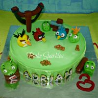 Angry Birds Themed Cake And Cupcakes