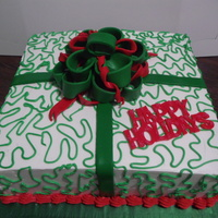 Giftbox For Christmas Cake