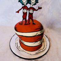 Cat In The Hat Cake For A Dr Seuss Themed Baby Shower Cat in the Hat cake for a Dr. Seuss themed baby shower (: