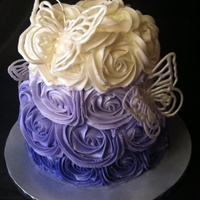Purple Ombre Cake With White Chocolate Butterflies   Purple Ombré Cake with White Chocolate Butterflies