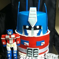 Transformers Cake My 1st transformers cake, figurine done out of fondant