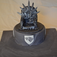 Throne Of Swords - Game Of Thrones Throne of Swords cake from the Game of Thrones with House Stark sigils. Inspired by the gorgeous cake from Bunny Bakers The base of the...