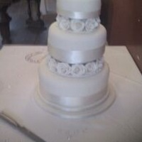 Wedding Cake Making my own wedding cake was a really enjoyable aspect of getting married !! :)