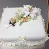 Wedding Cake Sugar Flower Arrangement..