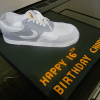 A Chocolate Cake For A Lad Who Is Mad About His Trainers BOYS TRAINER CAKE