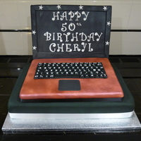 Girlie Laptop Cake I tried to make this order look a bit like a celebration cake as well as a laptop. Recipient was delighted so I think I succeeded!