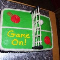 Ping Pong (Table Tennis) Cake