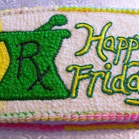 Happy Friday At The Pharmacy Homemade chocolate cake with lots of colorful buttercream icing!