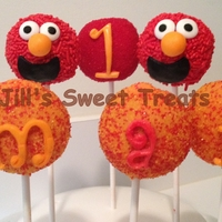 Elmo Cake Pops Elmo Cake pops for Amari's 1st Birthday