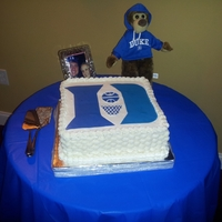 Duke Basketball - Groom's Cake Devil's Food with Chocolate Carmel Buttercream filling