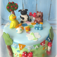 Timmy Time First Birthday Cake