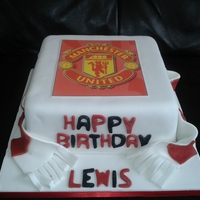 Manchester United i made this cake for my friend sons 8th birthday he is manchester united mad