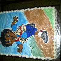 Diego Full sheet cake done with marshmallow icing
