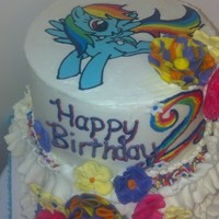 Rainbow Dash 2Nd Birthday Cake For My Adorable Niece The Pony Is A Fbct First Time Ever Nailed It I Went A Little Nuts With Add Ons Bu  Rainbow Dash 2nd birthday cake for my adorable niece. The pony is a fbct, first time ever (nailed it!) I went a little nuts with add ons,...