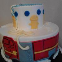 Fire Engine Cake For A Baby Shower The Expectant Father Is A Fireman So I Made This Engine Mimic The Real One Fire Engine cake for a baby shower. The expectant father is a fireman, so I made this engine mimic the real one.