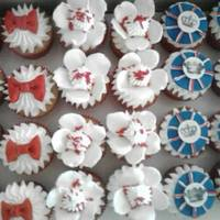 Cupcakes For A Child Named London Who Just Turned 1 The Centers Of The Flag Cupcakes I Stamped With Black Gel Coloring So Cool And Now I Cupcakes for a child named London, who just turned 1. The centers of the flag cupcakes I stamped with black gel coloring, so cool, and now...