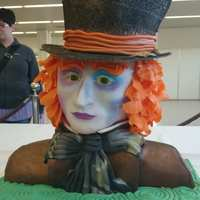 Madhatter Just want to share my Cake - Madhatter (Johnny Depp) - Silver for this Cake at Cake World Germany, Freestyle category