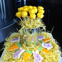 Easter Chick Cake Pops And Cookies