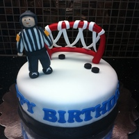 Hockey Referee Cake