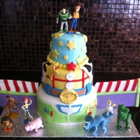 Toy Story Buzz Lightyear Woody Cake A cake I made for my nephew's 3rd birthday party